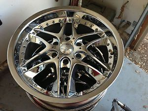 Akuza Blade 381 20 x 8 5 Chrome Rims Wheels Chevrolet Express Van 2 Used