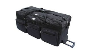 "Large 42"" Rolling Duffel Bag Wheeled Duffle with Wheels"