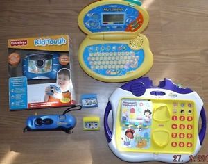 Mixed Kids Electronic Toys Fisher Price Vtech Laptop Cameras