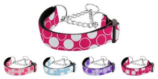 Dog Pet Puppy Diagonal Dots Martingale Nylon Collar Limited Slip Safety Leash