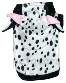 Pet Dog Cat Cow Halloween Costume White Black Small Apparel Size 10 12 14 18