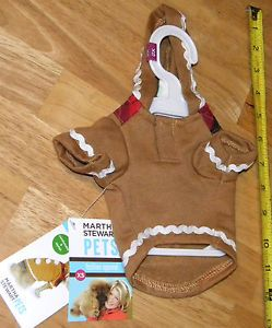 Martha Stewart Pets Fashion Apparel Dog Puppy Christmas Hoodie Costume in XS