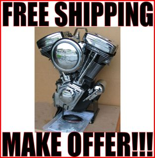 "New Revtech 88"" Black Chrome Engine Motor Harley Softail Evolution EVO"