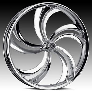 "Custom 3D Wheels 26"" Chrome Rim Package for Harley"
