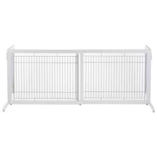 Richell Freestanding Free Standing Dog Pet Gate White HL R94159