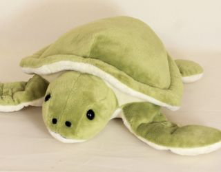 Super Soft Light Green Big Wing Baby Turtle Stuffed Plush Toy Doll 6'' Brand New