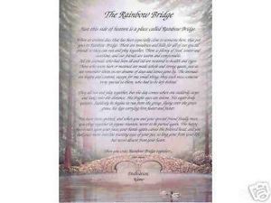 Rainbow Bridge Pet Memorial Personalized Print Name