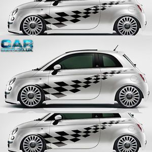 Custom Design Fiat 500 Car Kit Vinyl Graphics Stickers Decals Abarth 500C