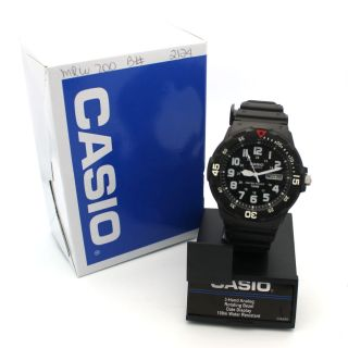 New Casio MRW200H Mens 100M Black Diver Classic Sports Watch Black Dial 079767972721