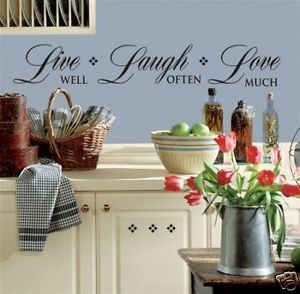 New Live Laugh Love Wall Decals Home Quotes Stickers
