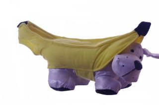 Banana Toy Dog Puppy Pet Animal Fruit Halloween Parade Costume Small Medium New