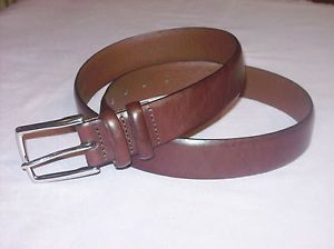 Polo Ralph Lauren Men's Dark Brown Leather Career Casual Dress Wear Belt Sz 36
