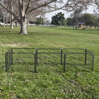 8 Panel Heavy Duty Cage Barrier Pet Dog Cat Fence Exercise Metal Play Pen Kennel