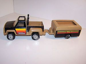 Vintage Tonka Truck Metal Pop Up camper Trailer