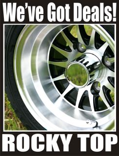 10x7 Medusa Golf Cart Wheel on Low Profile Street Tires