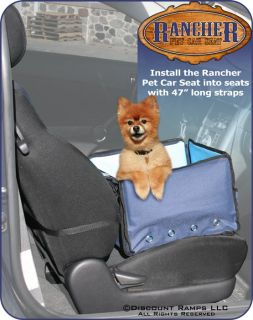 Navy Blue Pet Booster Seat Car Van Carrier Small Dogs