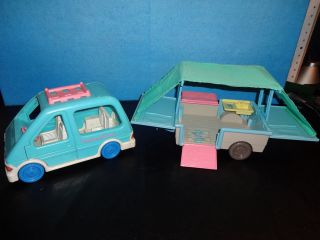 Fisher Price Dollhouse Car Pop Up Trailer Camper