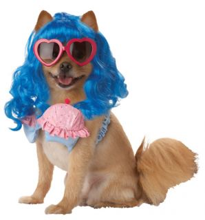 Pet Dog Funny Pup A Razzi Cupcake Girl Super Pop Star Costume w Glasses