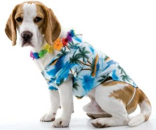 Pet Dog Luau Party Hawaiian Shirt Funny Costume