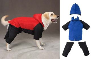 Dog Pet Puppy Nylon Insulated Winter Snowsuit Coat Jacket Zip Off Legs Arms Hood