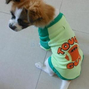 V Neck Pet Dog Puppy Sports T Shirt Coat Clothes Apparel Costume M