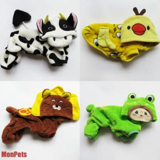 Duck Cow Lion Frog Pet Dog Costume Jumpsuits Hoodie Coat Dog Clothes XS s M L XL