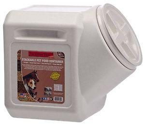 Vittles Vault 40 Pound Stackable Pet Food Container Air Tight Heavy Duty Storage