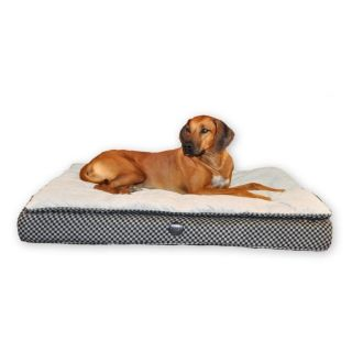 KH Mfg Quilted Feather Top Orthopedic Dog Cat Pet Bed Large Gray KH4811