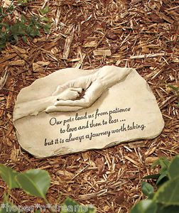 "Pet Memorial Garden Stone Dog Cat ""A Journey Worth Taking"""