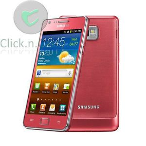 Pink Samsung Galaxy s II S2 i9100 Unlocked 16GB Android Cell Phone Smartphone 8806071803159