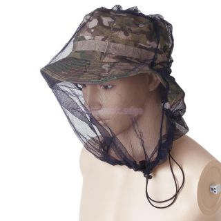 Camping Head Mesh Net Mosquito Insect Bug Bee Face Protection Hat Net Protector
