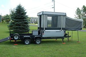 Pop Up camper Toy Hauler Perfect for Hauling ATV or Motorcyle and Camping