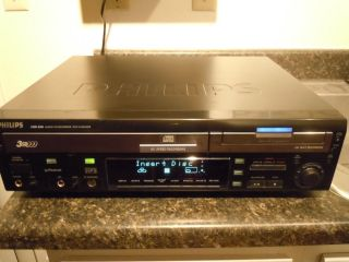 Philips CDR820 CD Player CD Burner Home Recording CDR 3 Disc Changer Audio