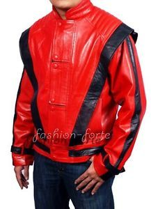 Michael Jackson Thriller Red Leather Jacket XS 5XL Sale in Faux Leather $75