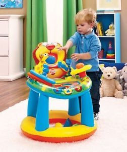 Inflatable Child Kids Clutch Touch and Feel Activity Learning Table Center