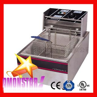 Electric Deep Fryer 2500W 5 5L Single Tank Commercial Restaurant Countertop