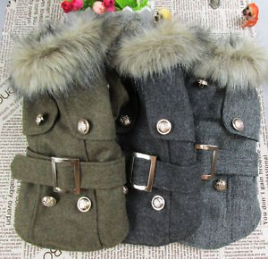 Thick Warm Small Dog Puppy Pet Clothes Apparel Woolen Cloth Outcoat for Winter