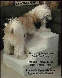 Pet Stairs 3 Step Dog Staircase Pet Stair Case HELPS Small Older Dogs E4130