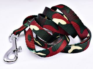 Small Nylon Pet Dog Leash Lead Green Camo Toy Poodle Yorkie 120cm 1cm Chihuahua