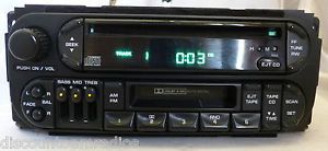 98 03 Chrysler Dodge Jeep Radio CD Cassette Player RAZ P04858540AG