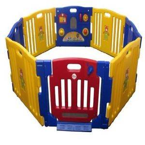 Baby Pet Safety Gate Kids Playpen 8 Panel Play Center Yard Pen JBW Model Walk