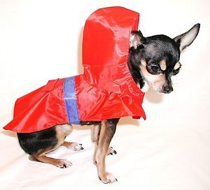Pets New Red Small Dog Puppy Waterproof Rain Coat Poncho Clothes Chihuahua