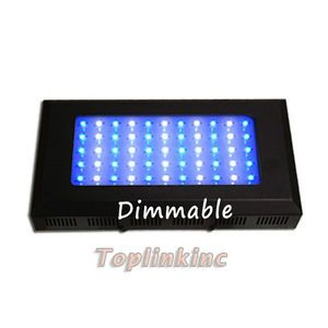 New Dimmable 120W Aquarium Coral Reef Fish Tank White Blue LED Light Black US