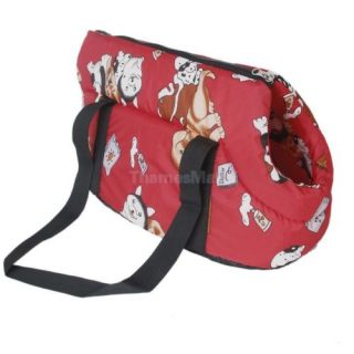 Dog Puppy Cat Pet Travel Carrier Tote Bag Purse Red New