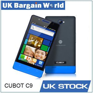 "Cubot C9 4 0"" Touch Screen Dual Sim Android Smartphone Cell Phone Unlocked Blue"