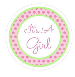 20 Personalized Its A Girl Baby Shower Party Favors Hang Tags or Stickers