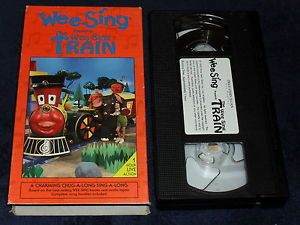 The Wee Sing Train Together VHS RARE x Cond Childrens Sing Along Video