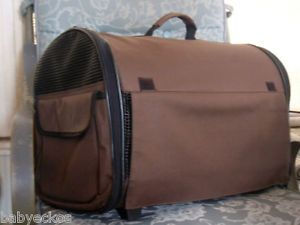 Boots Barkley Brown Rolling Airline Small Dog or Cat Pet Travel Carrier NR
