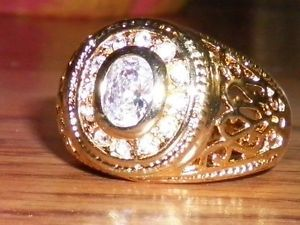 Yellow Gold Filled Ring Size 6