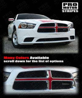 Dodge Charger Front Grille Cross Insert Stripe 2011 2012 2013 Decal Pro Motor